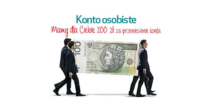 200 zł za przeniesienie konta do Credit Agricole