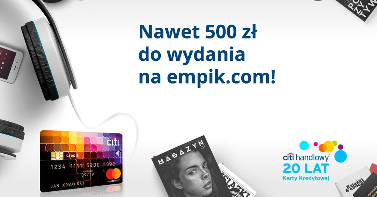 500 zł na empik.com za wyrobienie karty kredytowej Citi Simplicity
