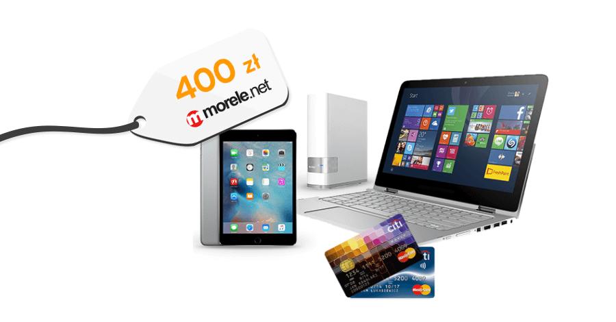Bon 400 zł do morele.net za wyrobienie karty kredytowej Simplicity