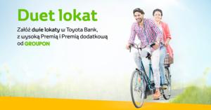 Toyota Bank: do 140 zł w gotówce za założenie lokaty 2,5% na grouponie