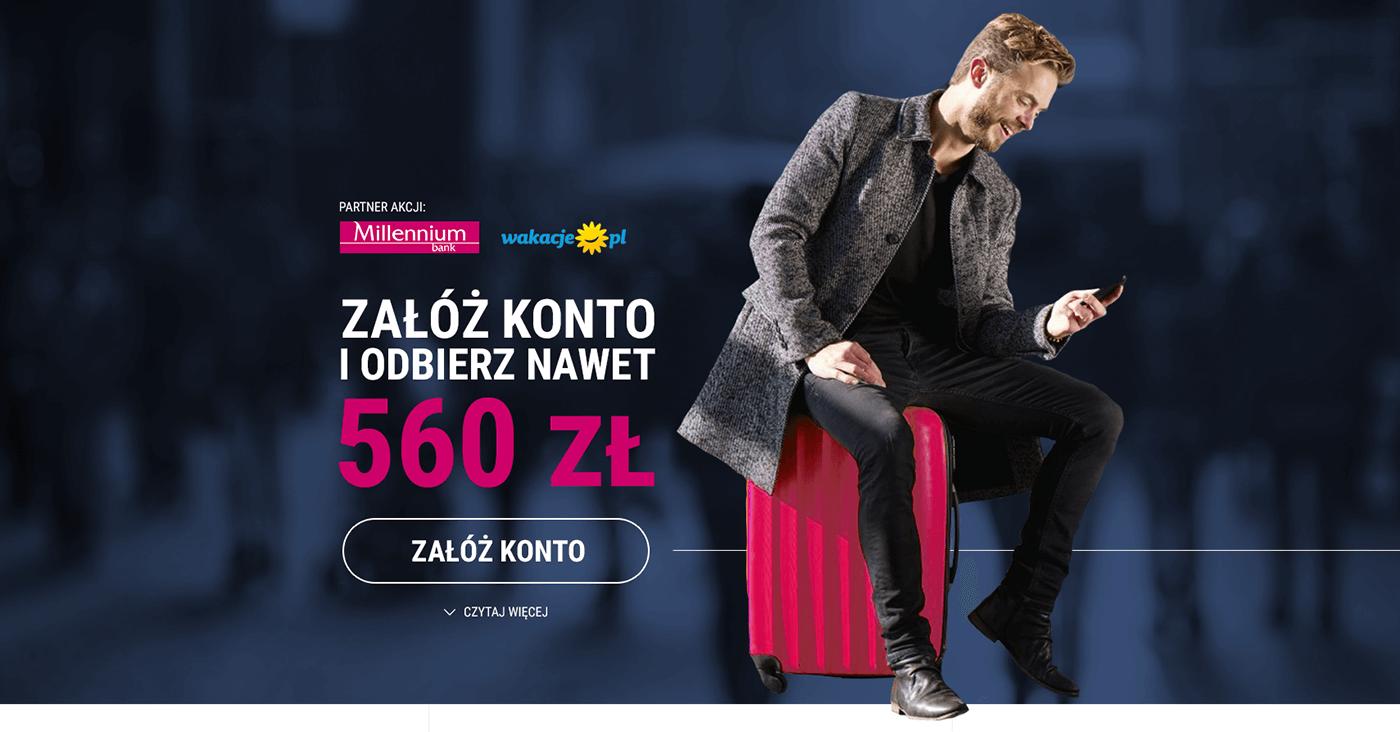 100 zł premii, 100 zł w bonie wakacje.pl i do 360 zł za założenie Konta 360 Banku Millennium