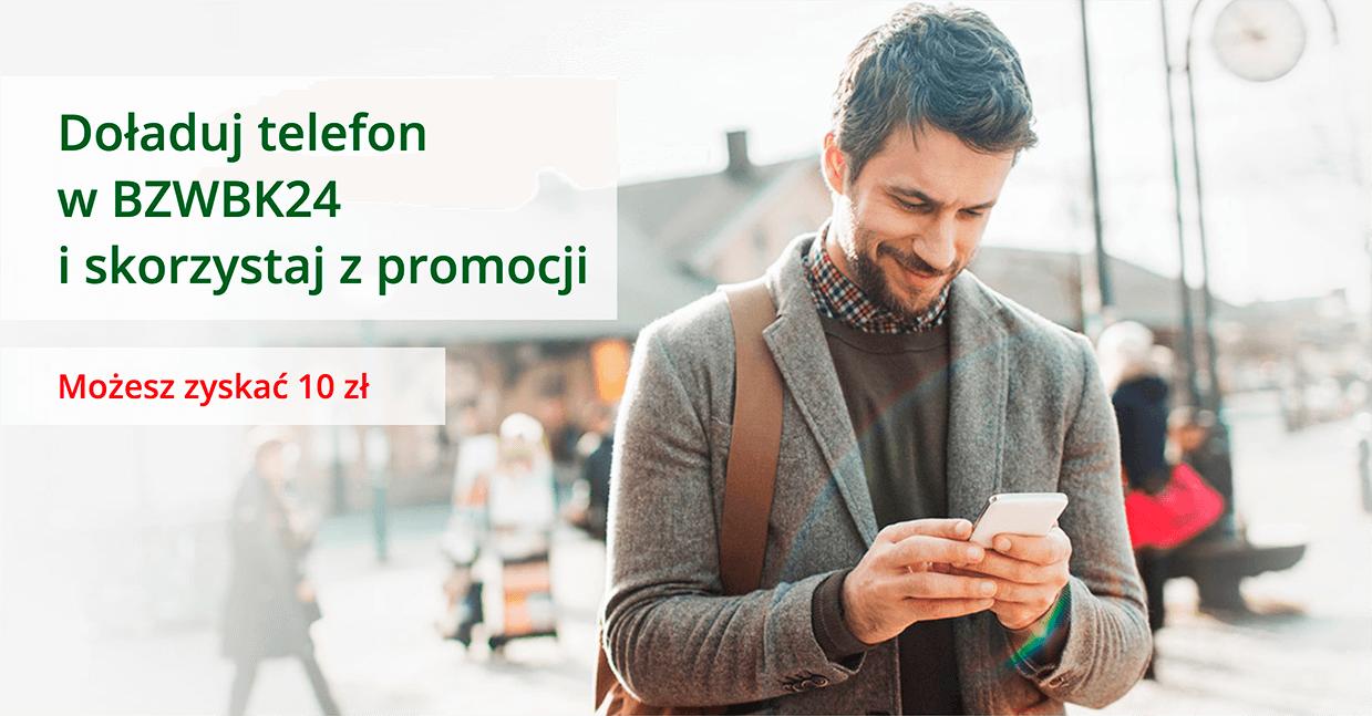 10 zł premii za doładowanie telefonu w BZWBK