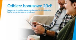 20 zł na zakupy na empik.com za płatność PayPalem