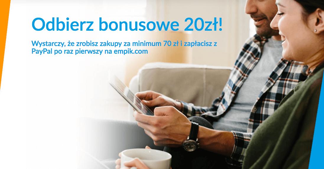 20 zł zniżki na Empik.com za płatność PayPal