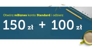150 zł na start + 100 zł na ZUS w kolejnej promocji mBank i serwisu Bankier