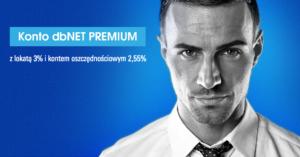 dbNET Premium: 3% na lokacie i 2,55% na koncie oszczędnościowym (do 100 000 zł tu i tu)!