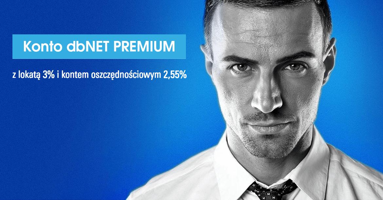 Lokata 3% na koncie dbNET Premium