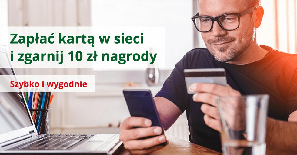 10 zł za płatność kartąprzez internet w BZWBK