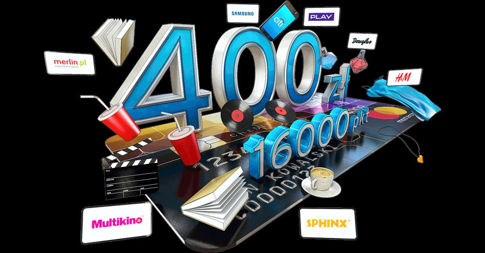 16000 punktów za wyrobienie karty World MasterCard Citibanku