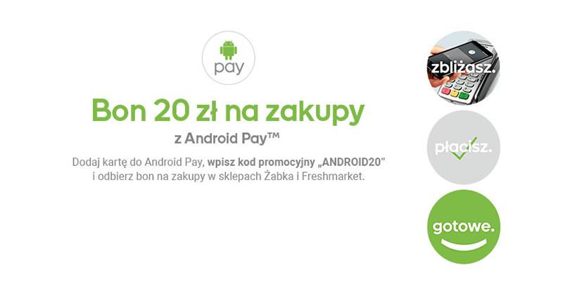 20 zł na zakupy w Żabce z Android Pay