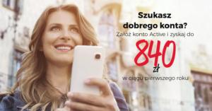 120 zł za założenie Konta Active w Eurobanku