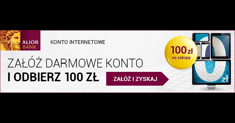 100 zł w bonie Sodexo za założenie konta internetowego Alior Banku