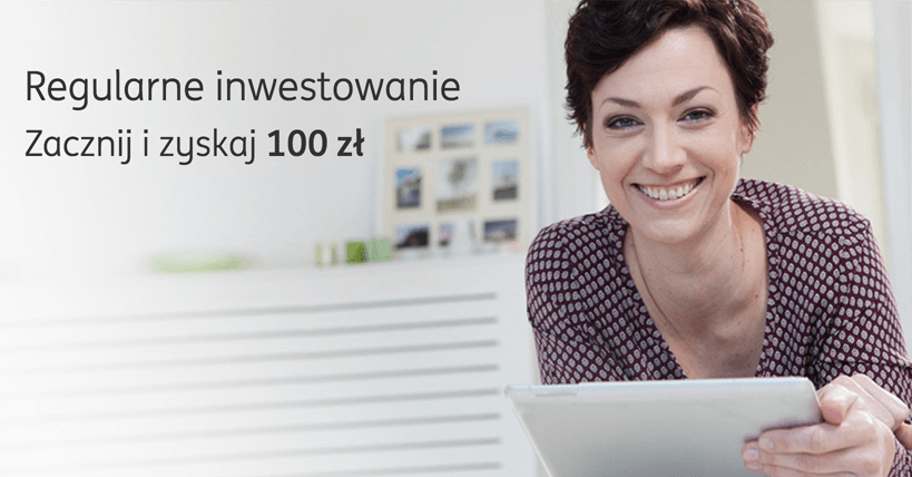 Premia 100 zł za regularne inwestowanie w ING