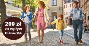 200 zł premii za otrzymywanie świadczenia Rodzina 500+ na konto w Nest Banku (równieżdla obecnych klientów!)