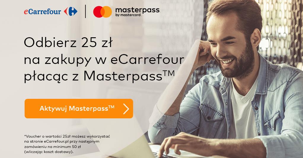 Kod rabatowy 25 zł do eCarrefour z MasterPass