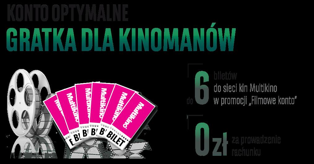 6 biletów do Multikina za założenie Konta Optymalnego w BGŻ BNP Paribas