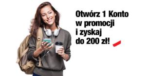 Do 200 zł premii za założenie 1 Konta w Credit Agricole