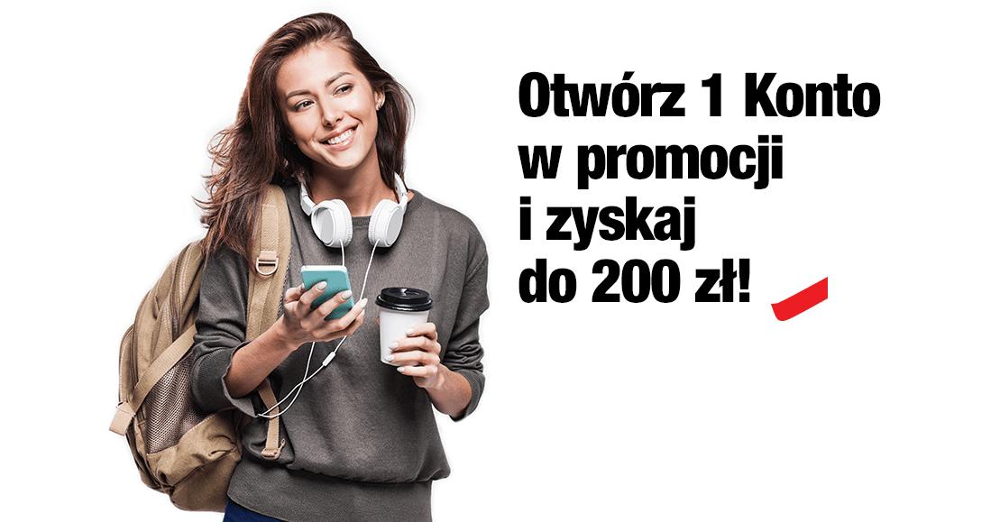 Twoje mobilne 1 Konto - 200 zł premii od Credit Agricole