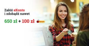 mBank: 100 zł do Biedronki i do 650 zł moneybacku za założenie eKonta!