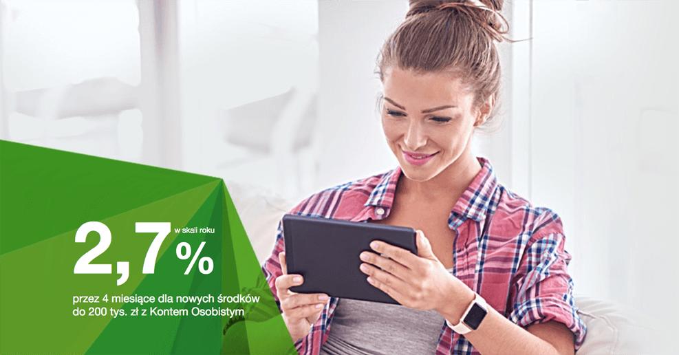 2,7% na koncie oszczędnościowym Getin Banku