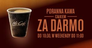 McDonald's: poranna kawa całkowicie za darmo od 16 do 29 października 2017