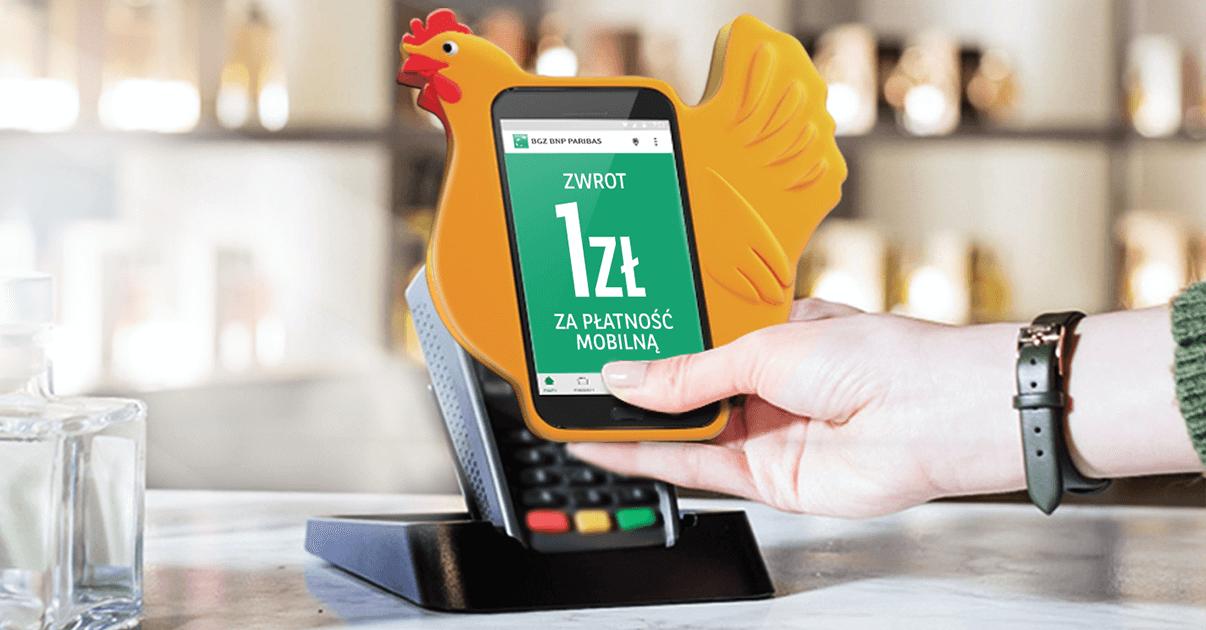 1 zł za płatność mobilną w BGŻ BNP Paribas