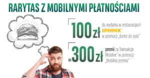 BGŻ BNP Paribas: 100 zł do wydania w restauracjach Sphinx i 300 zł za transakcje mobilne