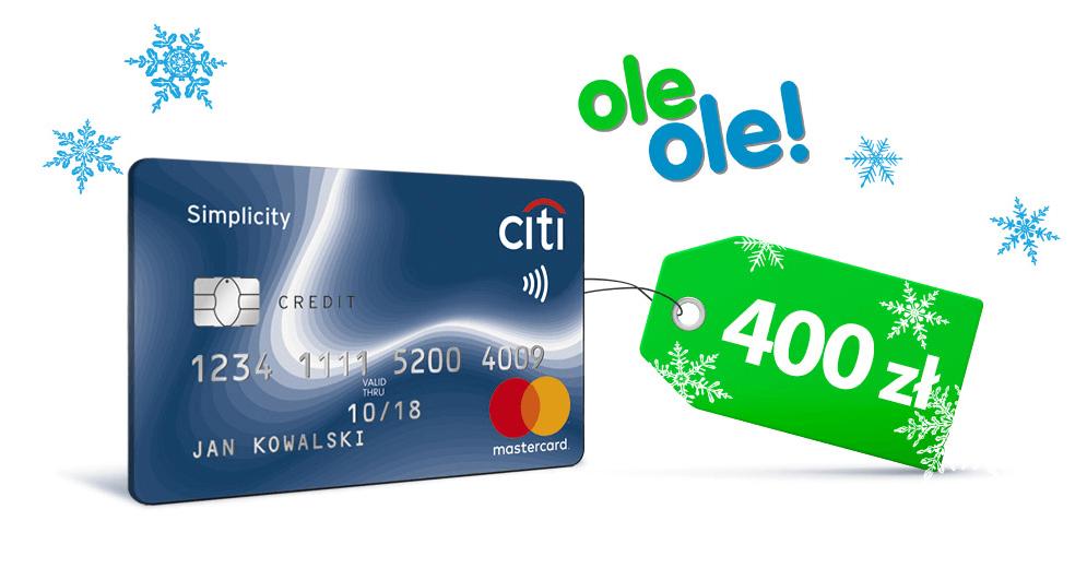 Citibank: 400 zł do wydania na oleole.pl za wyrobienie darmowej karty Citi Simplicity