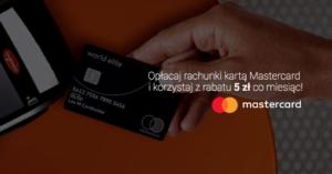 5 zł comiesięcznej zniżki za opłacanie abonamentu Play kartą Mastercard