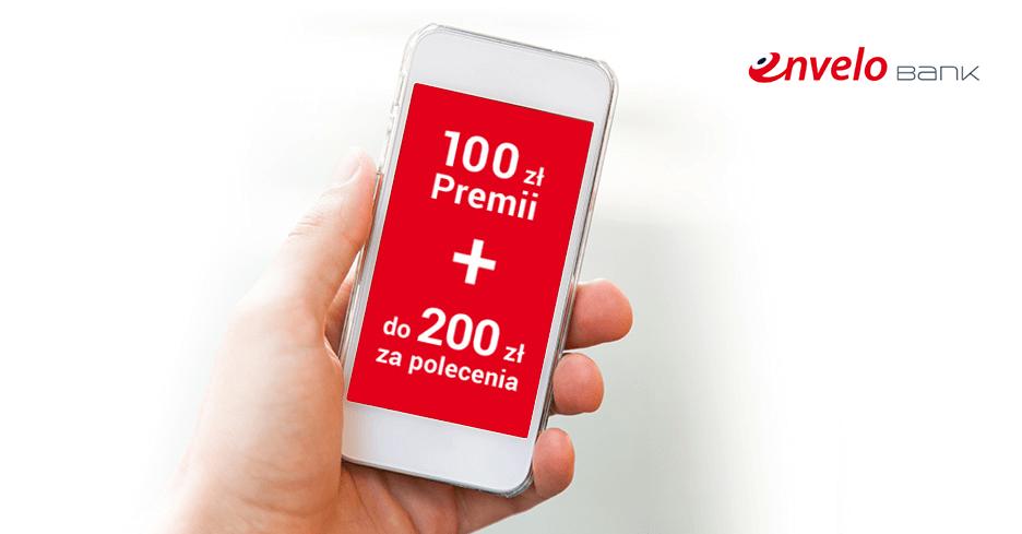 100 zł premii za założenie EnveloKonta w EnveloBanku Pocztowym