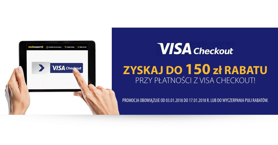 150 zł zniżki na mediaexpert.pl przy płatności Visa Checkout
