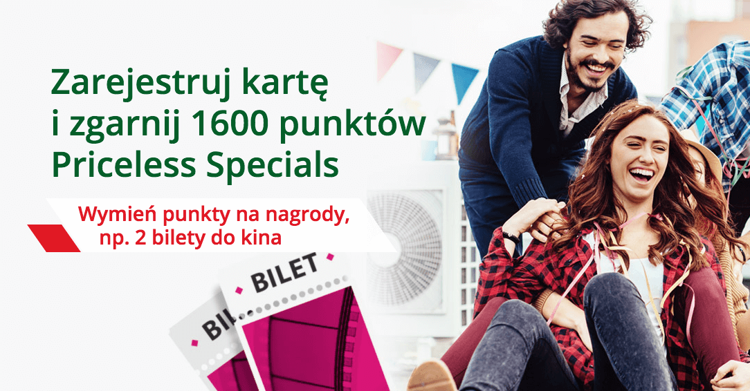 Mastercard Specials - 1600 punktów od BZWBK