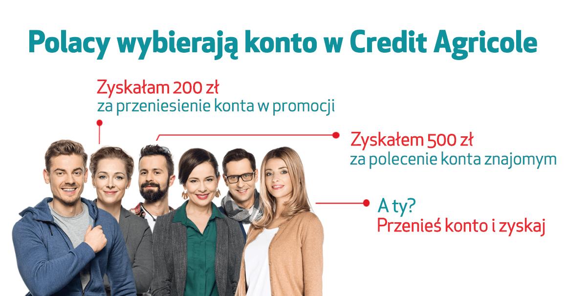 Łatwe 250 zł za przeniesienie konta do Credit Agricole (i 3% na lokacie na start)