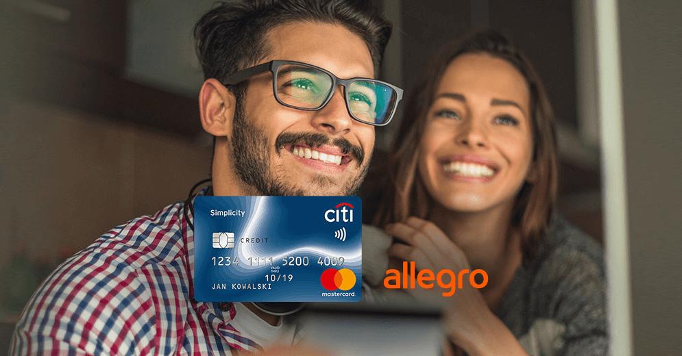 300 zł do wydania na Allegro za wyrobienie bezpłatnej karty Citi Simplicity