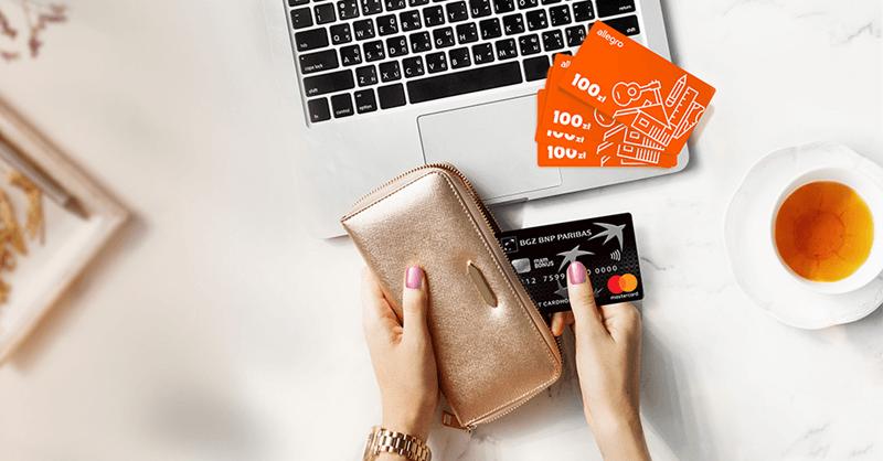 Od 100 do 400 zł w bonach Allegro za wyrobienie karty kredytowej mamBONUS w BGŻ BNP Paribas!