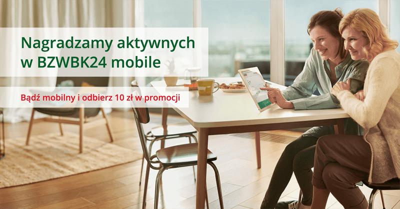 10 zł za aktywność w BZWBK24 mobile od BZWBK