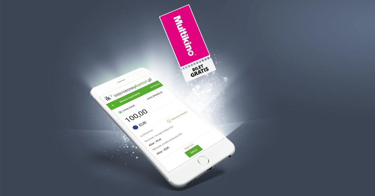 Bilet do Multikina za założenie konta w serwisie Internetowykantor.pl
