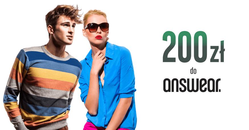 200 zł do Answear.com za Konto Optymalne od BGŻ BNP Paribas