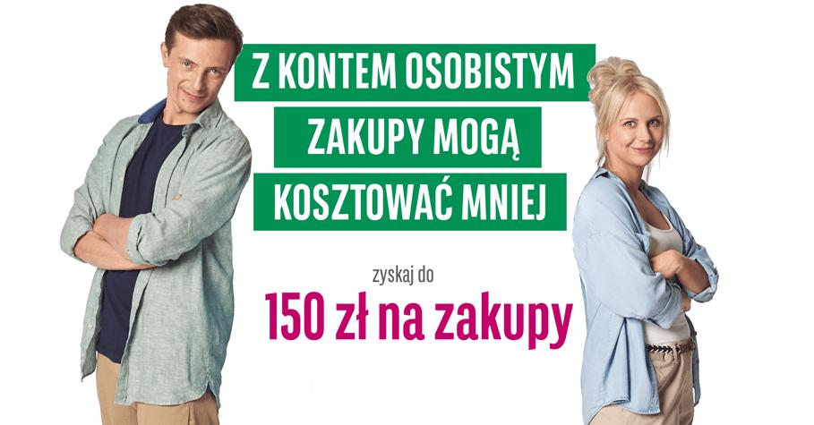 150 zł za założenie konta BGŻ BNP Paribas do Decathlona, Biedronki lub H&M