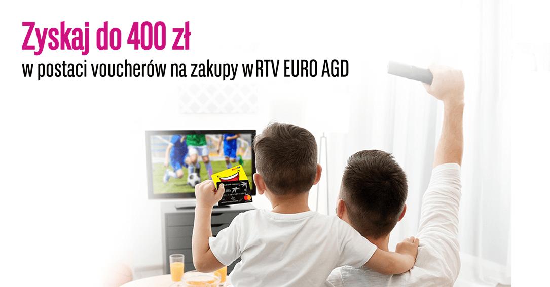 400 zł do RTV Euro AGD za kartękredytową BGŻ BNP Paribas