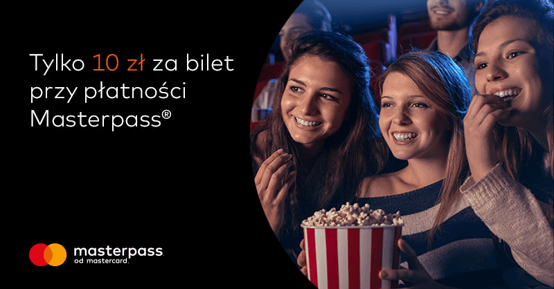 10 zł za bilet Cinema City z portfelem Masterpass