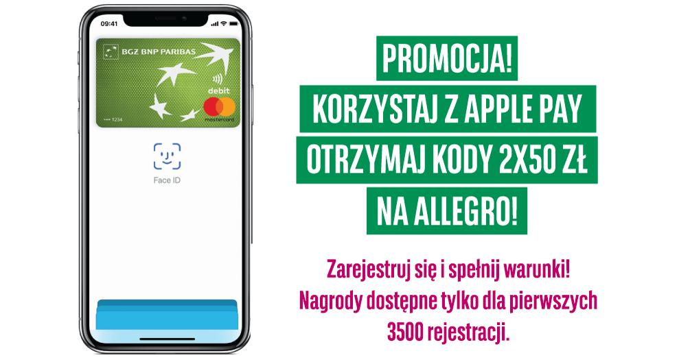 100 zł w bonach Allegro za transakcje Apple Pay od BGŻ BNP Paribas