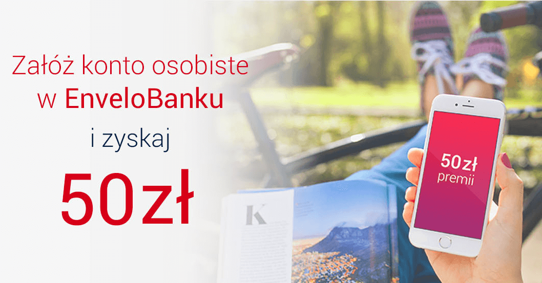 50 zł za założenie EnveloKonta