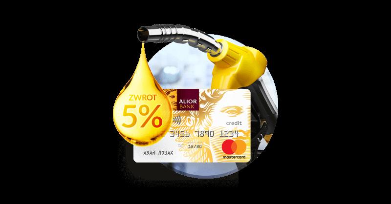 Płać mniej na stacjach paliw - 5% zwrotu na karcie kredytowej TU i TAM od Alior Banku