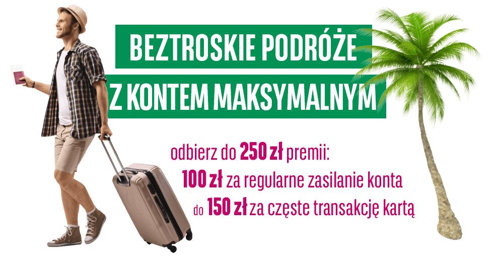 100 zł premii za regularność i 150 zł za aktywność w promocji Konta Maksymalnego BGŻ BNP Paribas