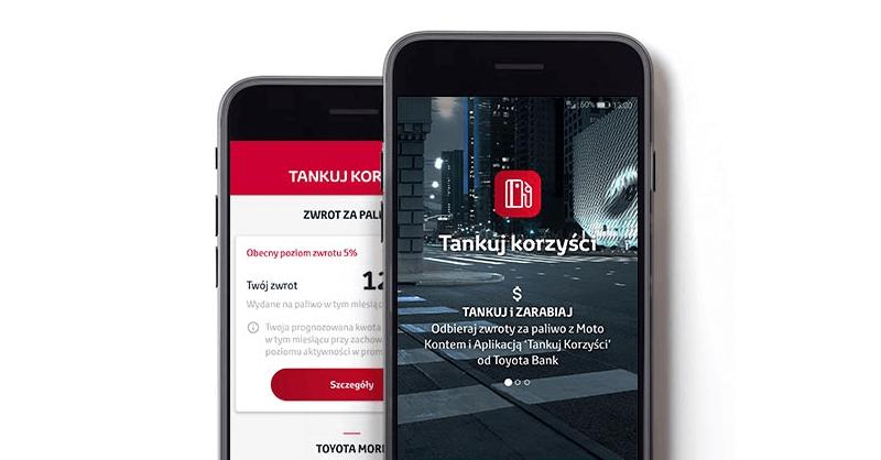 Tankuj korzyści - zwrot za paliwo do 10% miesięcznie na Moto Koncie Toyota Bank