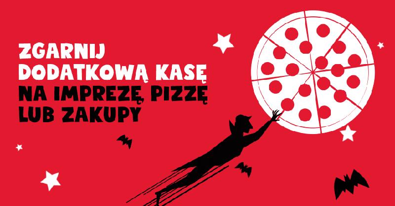 Zgarnij do 100 zł za założenie konta w Eurobanku i leć na pizzę, imprezę lub zakupy (+720 zł moneybacku!)