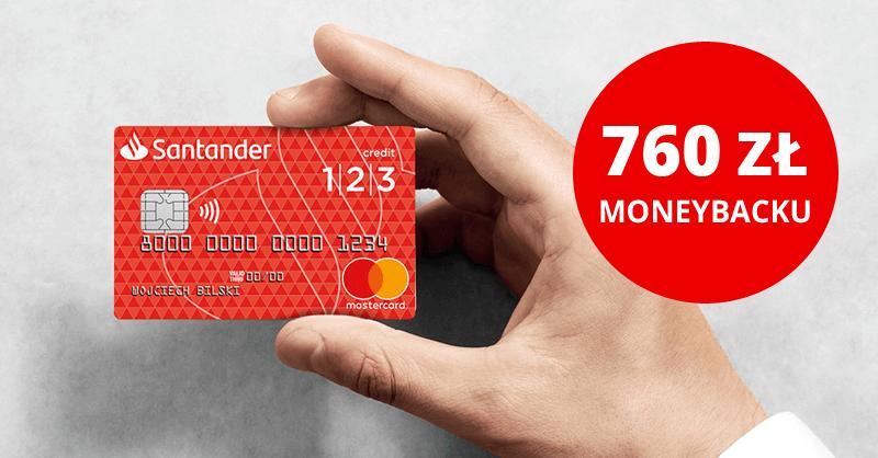 Do 760 zł moneybacku rocznie na karcie kredytowej 1|2|3 od Santander Bank Polska