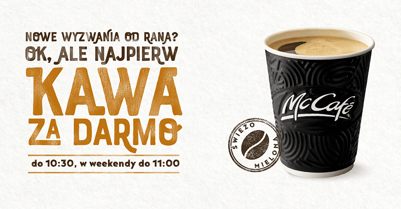Kawa zupełnie za darmo w McDonald's od 1 do 14 października 2018