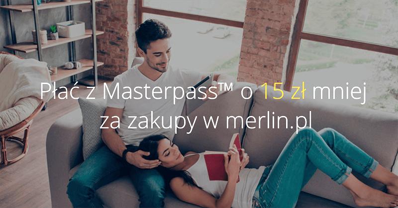 15 zł zniżki na merlin.pl za opłacenie zamówienia przez Masterpass